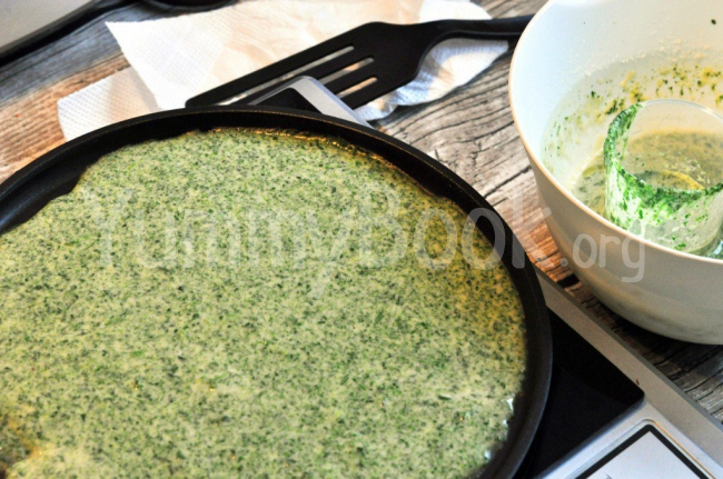 Thin Spinach Pancakes