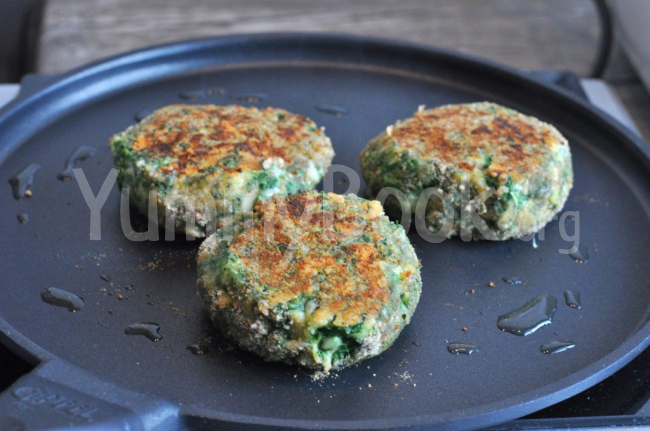 Spinach Schnitzel with Cheese