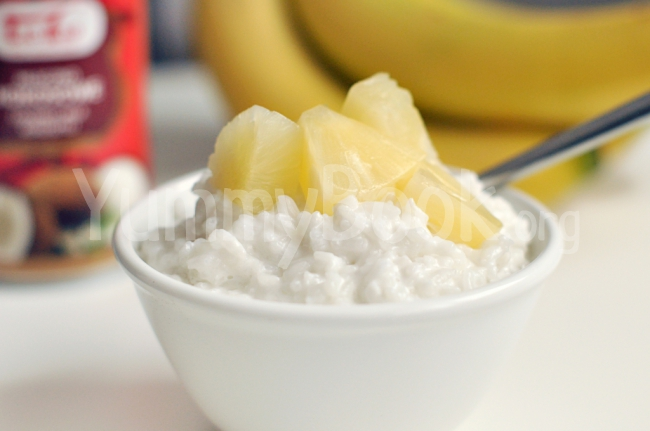 Vegan Rice Porridge with Coconut Milk